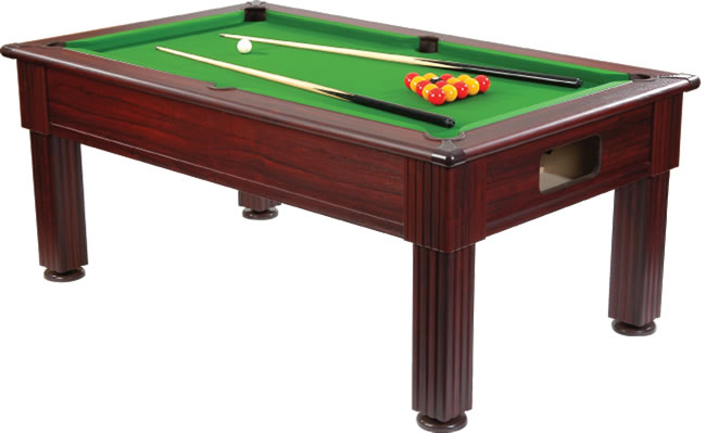 Supreme Prince Slimline Pool Table - Mahogany
